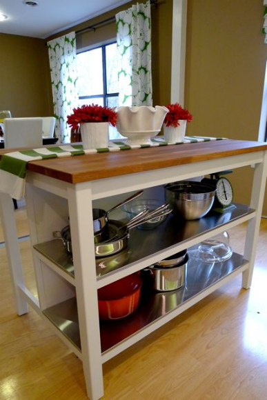 Kitchen Island Open Shelves remodelaholic | new ikea kitchen island