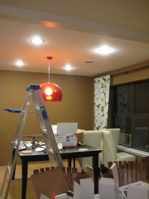 installing can lights in our dining room welcome to heardmont. Black Bedroom Furniture Sets. Home Design Ideas