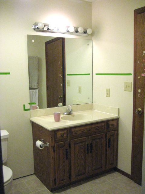 Updating Bathroom Vanity Lights : Master Bath Phase 4: Updating the Vanity Welcome to Heardmont