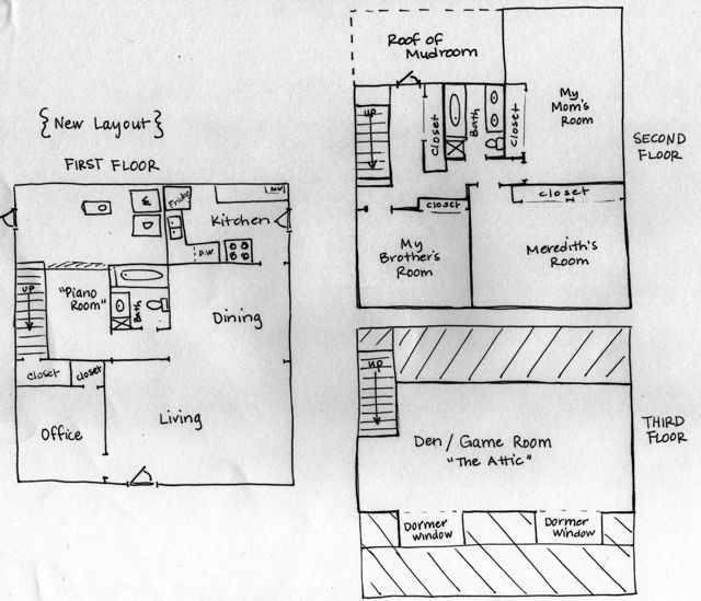Graph paper to virtual paper the heardmont floor plan for Room planning grid