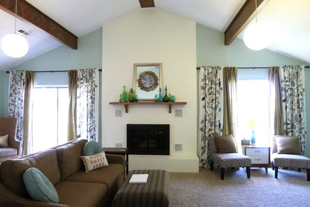 patterned curtains for living room. I  Spring Living Room Redo Welcome to Heardmont