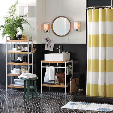 Tutorial How To Make A Striped Shower Curtain Welcome To Heardmont - Gray and white striped shower curtain