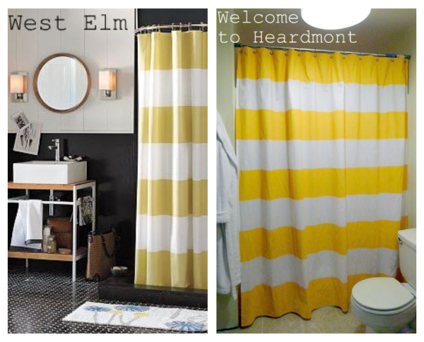 yellow and navy shower curtain. Tutorial How To Make A Striped Shower Curtain Welcome Heardmont  Yellow yellow stripe shower curtain Avarii org Home Design Best Ideas